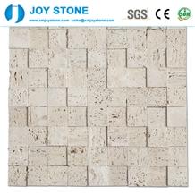 Mosaic Beige Travertine Interior Design
