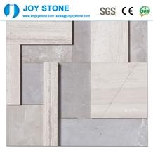 Wood Light Grain Mosaic Athens Gray
