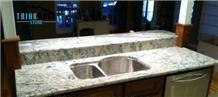 Aspen White Granite Kitchen Countertop