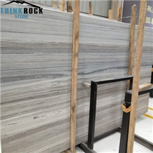 Blue Wood Grain Honed Limestone Slabs&Tiles for Wall Cladding, Floor