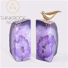 China Gemstone Semiprecious Gemstone Purple Agate Bookend