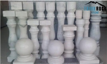 Guangxi White Marble Balusters Building Stone