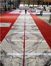 Lilac White Marble Slab, Paradise White Flooring