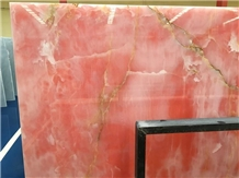 Pink Onyx Slab Tile