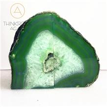 Polished Green Semi-Precious Bookends Stone