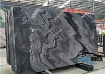 Solid Polished Bhainslana Black Marble Slab
