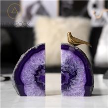 Strict Production Exceptional Enhanced Purple Rainbows White Agate