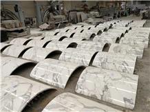 Calacatta White Marble Column