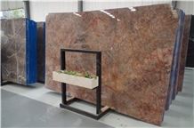 Violet Gold Marble Slabs for Exotic Interior Decorations