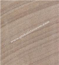 Wooden Veins Australian Brown Sandstone Slabs Tiles Handcraft Column