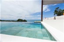 Pedra De Bali Para Piscina, Sukabumi Green Tuff Pool Coping