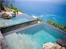 Pedras Hijau Verde Batu Hijau Sukabumi Green Tuff Pool Deck Coping