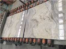 Ionia White and Grey Marble Slabs,Wall Floor Polished Tile,Cut-To-Size
