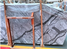 New Calacatta White Grey Marble Slabs,Wall Floor Polished Tiles