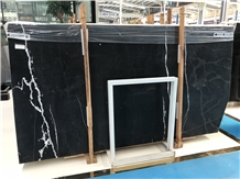 White in the Night Black Marble Slabs,Polished Tiles,Cut-To-Size