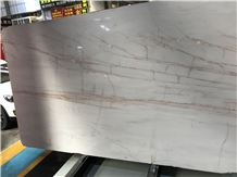 White Marble Withe Red Veins Dolomite Spider Marble Slabs,Tiles
