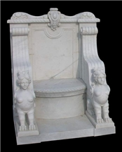 White Marble Carved Benches,Natural Marble Benches,Chairs,Design Chair