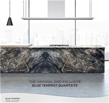 Blue Tempest Quartzite Kitchen Countertop