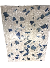 Lapis Lazuli Terrazo on Beige Cement