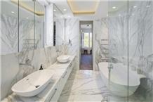 Calacatta Premium Marble Residential Bathroom Design
