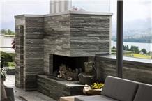 Vals Quartzite Fireplace Design