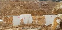 Usak White Marble - Usak White Pearl Marble Blocks