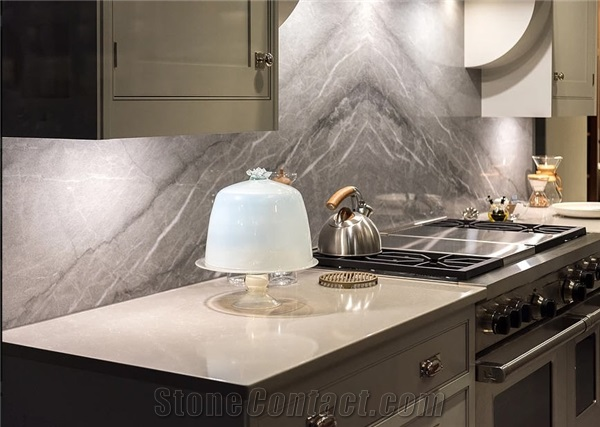 Cool Solid Surface Stone Kitchen Countertop Thomas Grey Marble Home Interior And Landscaping Staixmapetitesourisinfo
