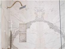 Calacatta Premium Italian White Marble Bathroom Design