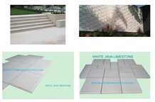 Ivory White Java Limestone Pool Coping Tiles