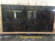 Golden Marshal Slabs, Iran Black Marble