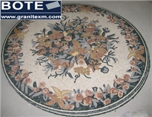 Flower Marble Mosaic Medallion Entrance Hotel