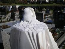 Solker White Marble Gravestone