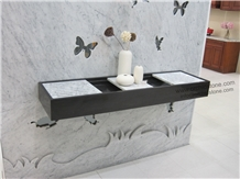 Bianco Carrara Marble Slabs & Tiles,Wall Cladding