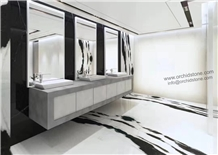 Panda White Marble Flooring Tiles,Wall Cladding