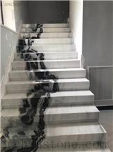 Panda White Marble Staircase,Riser