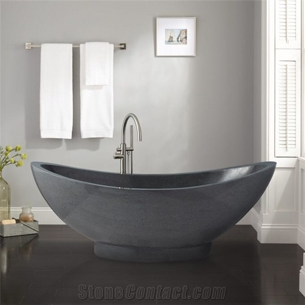 Dark Grey Granite Polished Oval Bathtub Bath Tubs,Resin Bath Tub ...