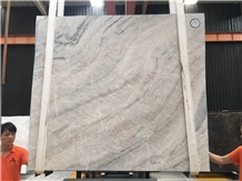 Luxury Natural White Marble Spring Land Marble Polished Slabs
