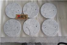 Natural Carrara White Marble Polished Lantern Base Handcraft Gift Work