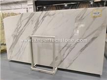 White Calacatta Marble Slabs Luxury Bathroom Wall Tiles Floor Tiles