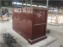 India Red Granite Double Crypts Mausoleum