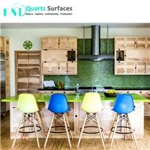 Green Starlight Kitchen Quartz Stone Countertop