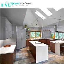 Super White Quarts Stone Slab for Kitchen Benchtop