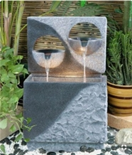 G603 Light Grey Granite Water Fountain for Environmental Decoration