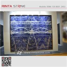 Azul Diva Blue Granite Glossy Sodalite Sapphire Laminated Bolivian