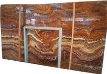 Wall Slab ,Tiger Brown Onyx