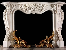 Fireplace Mantel White Marble Mantel Handcarved Fireplace Sculptured