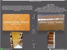 Honey Gold Slabs & Tiles, Pakistan Yellow Marble