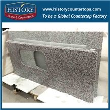 Commercial Big White Flower Granite Stone Kitchen Countertop
