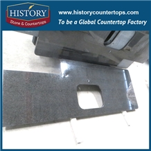 Commercial Polished Black Kitchen Granite Countertop Price