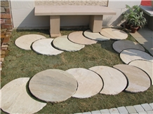 Grey Sandstone Cobbles, Courtyard Road Pavers